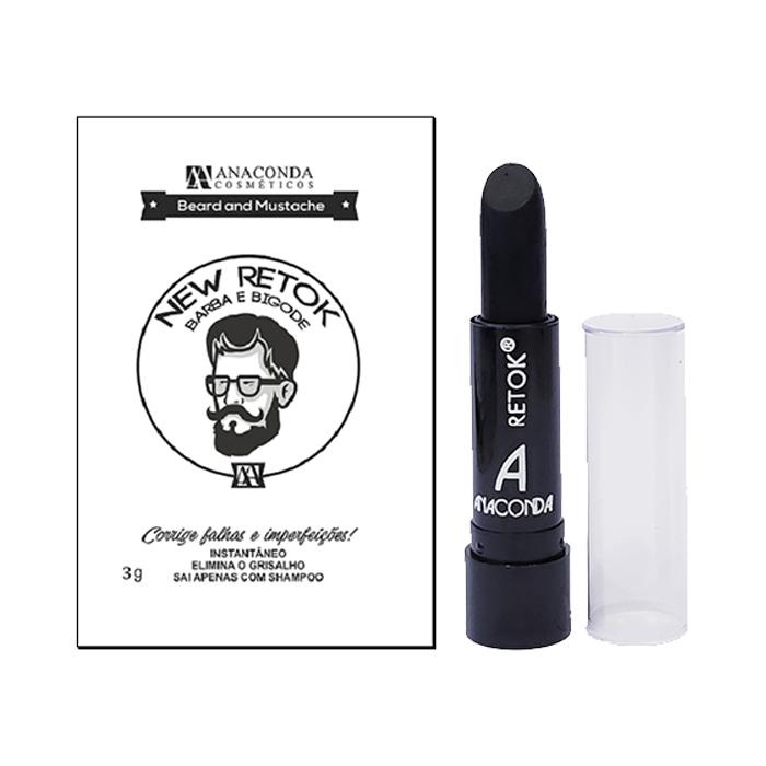 batom retoque para barba e bigode anaconda preto