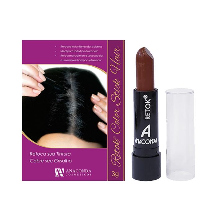 retok para cabelo anaconda castanho médio - 3g