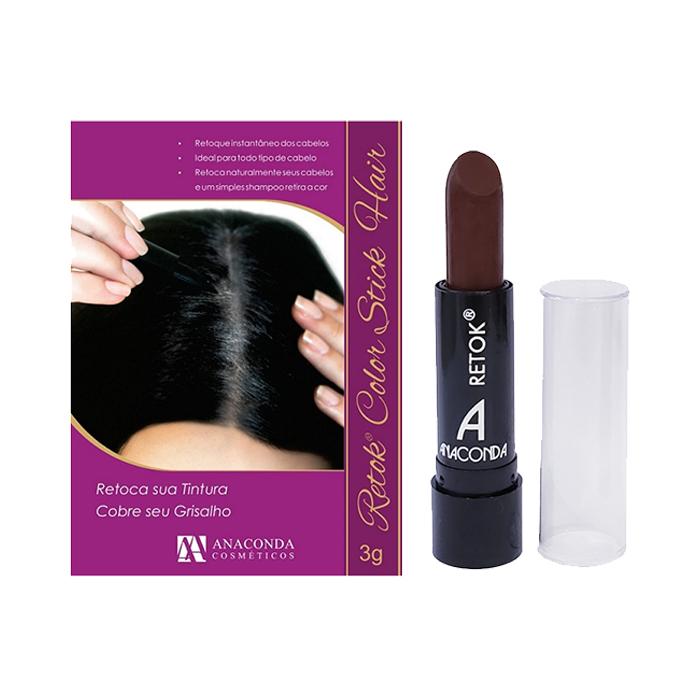 retok para cabelo anaconda castanho - 3g