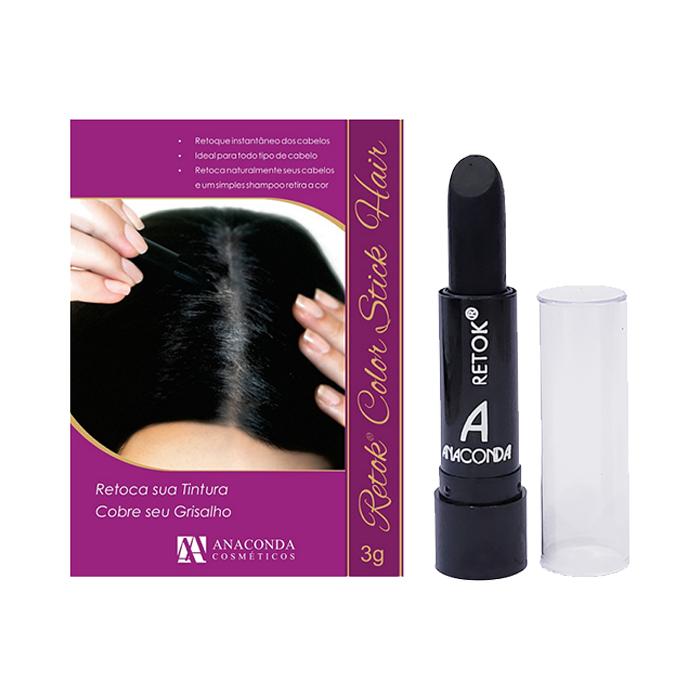 retok para cabelo anaconda preto - 3g