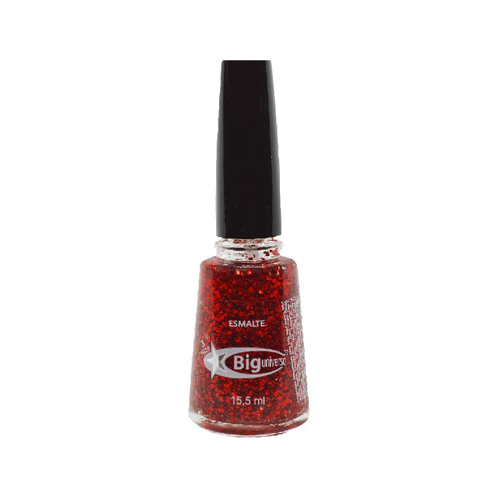 esmalte big glitter diamante vermelho 15,5ml