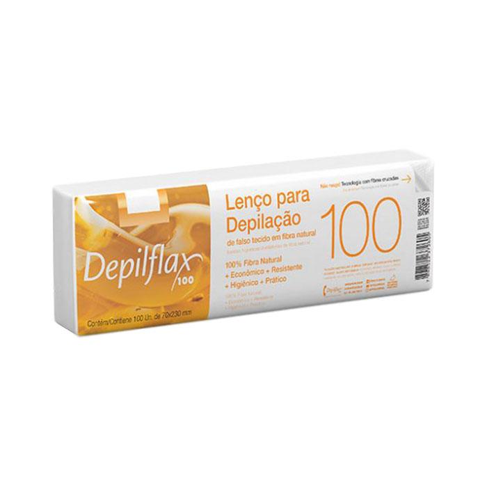 lenço depilatório depilflax 100 unidades