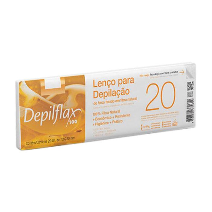lenço depilatório depilflax 20 unidades