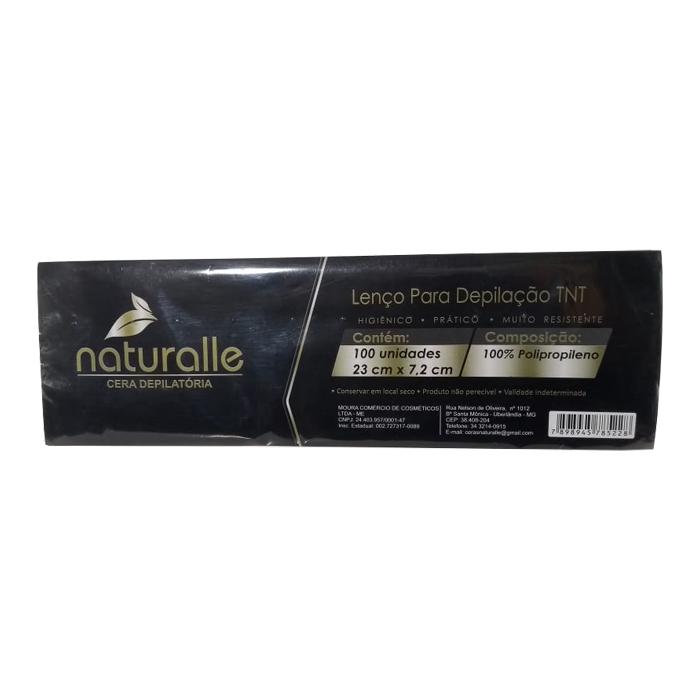 papel depilatório naturalle 100 unidades
