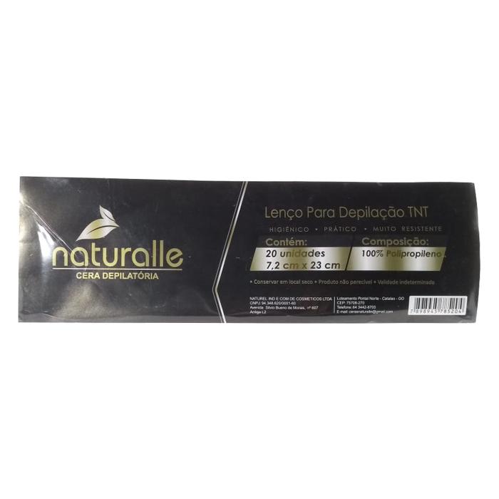 papel depilatório naturalle 20 unidades