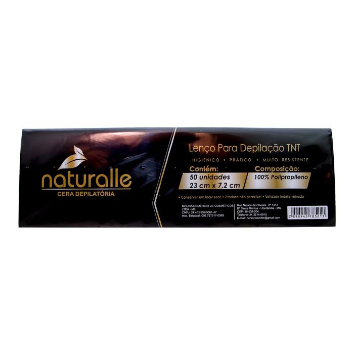 papel depilatório naturalle 50 unidades