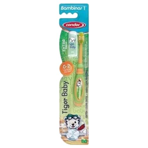 escova de dente condor infantil dinossauro macia ref 31730
