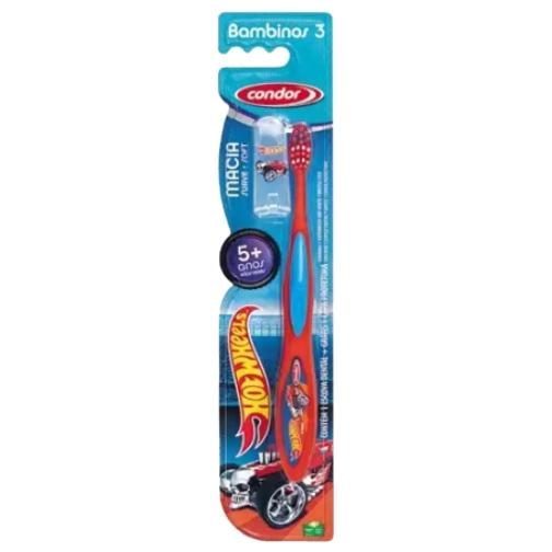 escova de dente condor infantil hot wheels macia mais de 5 anos ref31700