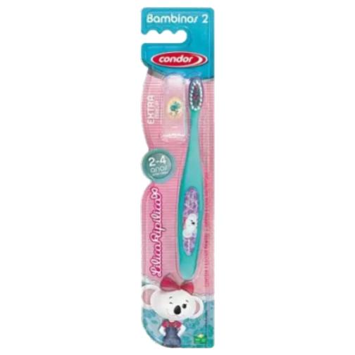 escova de dente condor infantil lilica ripilica extra macia 2 a 4 anos ref31673