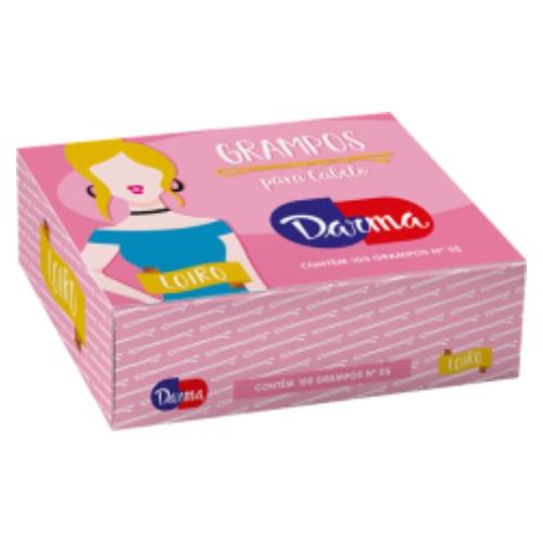 grampo darma n5 loiro 100un ref 136 caixa