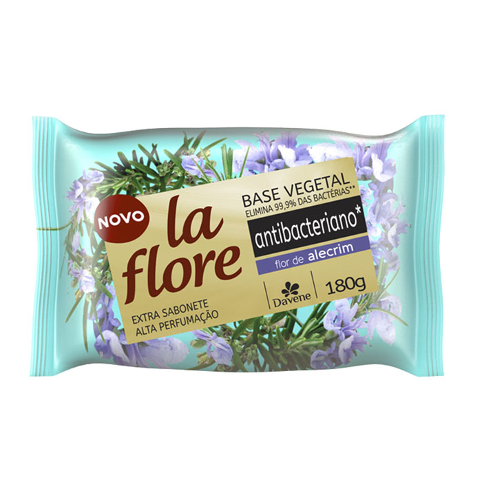 sabonete davene vegetal la flore antibacteriano alecrim 180g