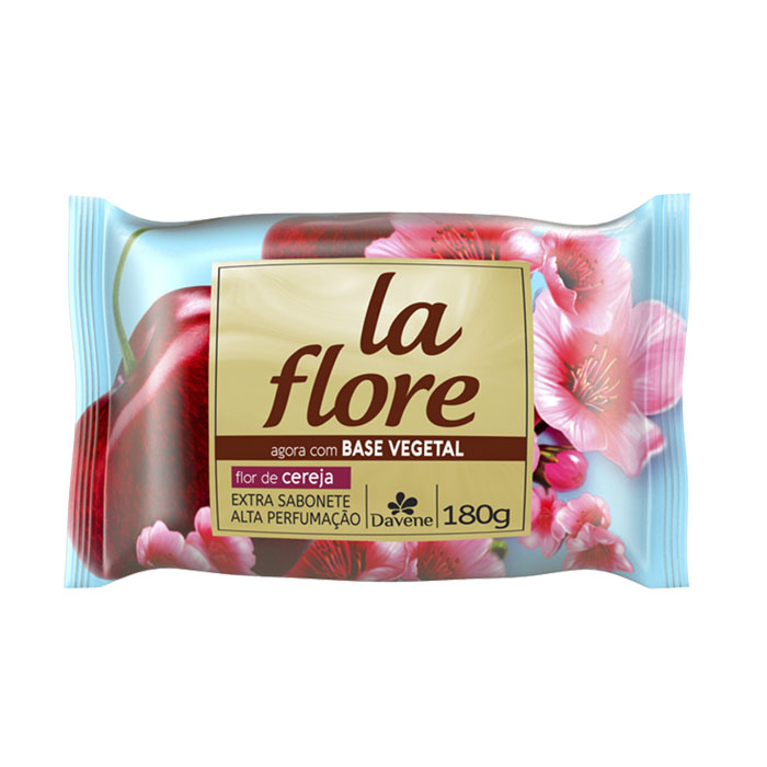 sabonete davene vegetal la flore cereja 180g