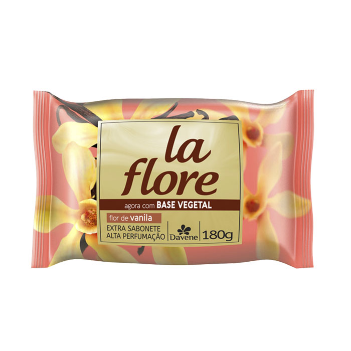 sabonete davene vegetal la flore vanila 180g