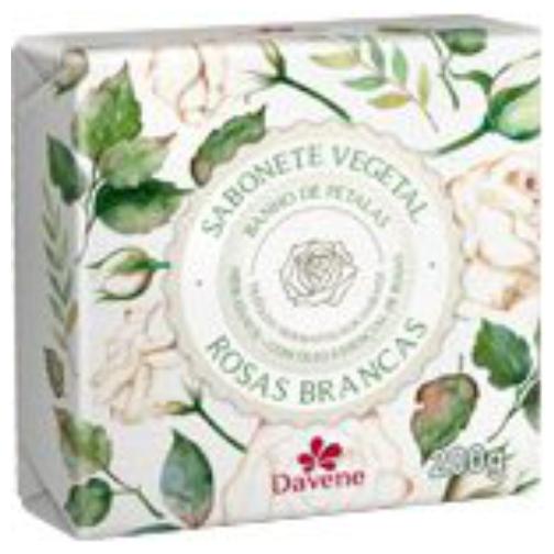 sabonete davene vegetal rosas brancas 200g