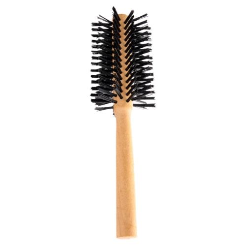 escova de cabelo escobel basic madeira meia lua ref762