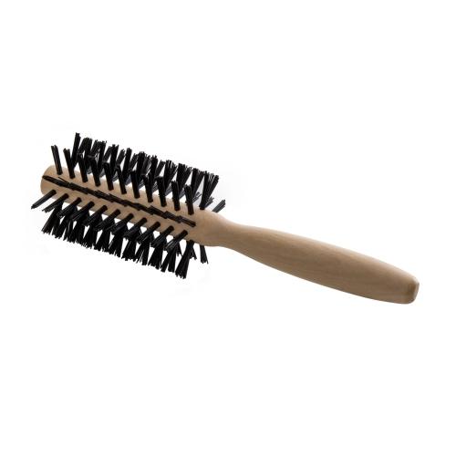 escova de cabelo escobel basic madeira redonda mini ref925
