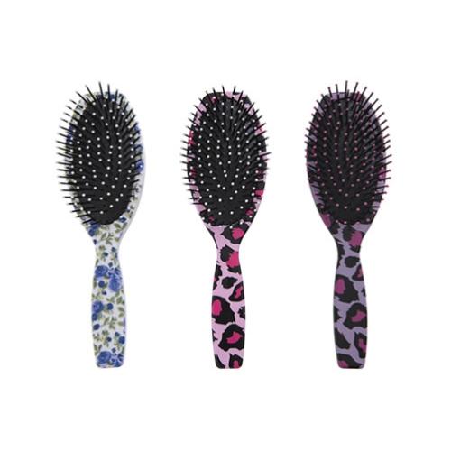 escova de cabelo escobel especial almofada estampada oval ref992