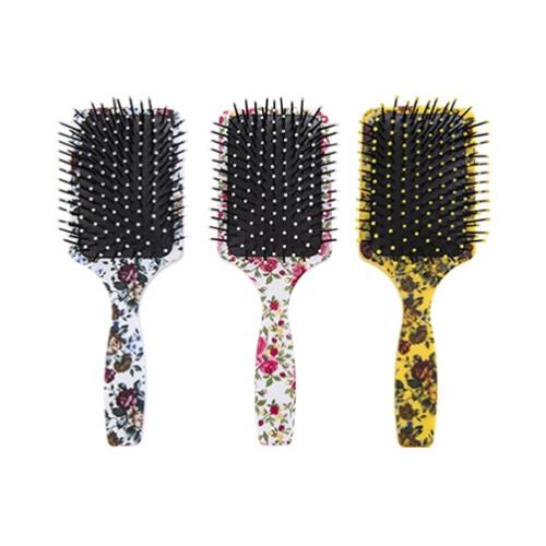 escova de cabelo escobel especial almofada estampada quadrada ref984