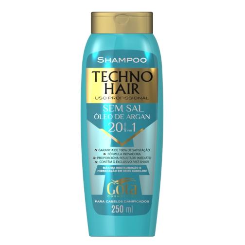sh gota d. techno hair 250ml oleo de argan