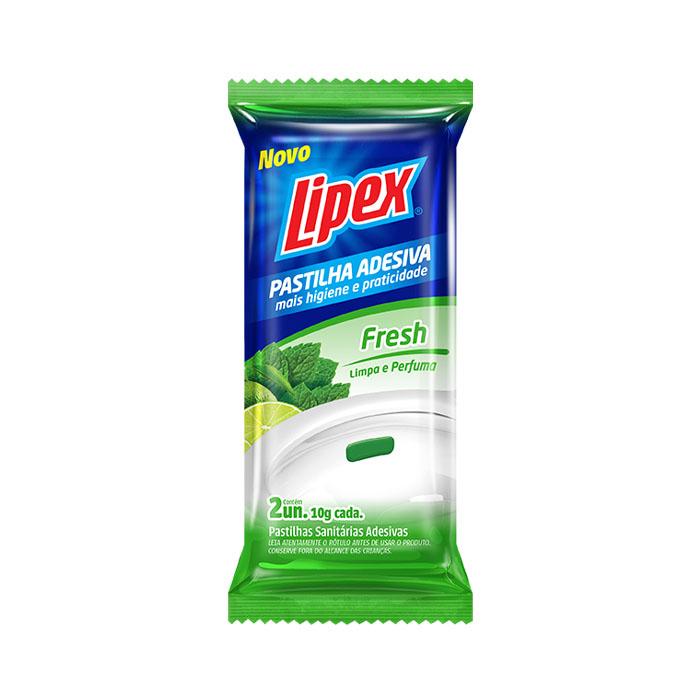 pastilha sanitaria lipex adesiva 20g fresh 2un cartela 6un