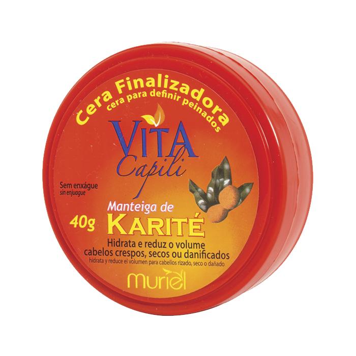 cera capilar muriel vita capili manteiga karité 40g