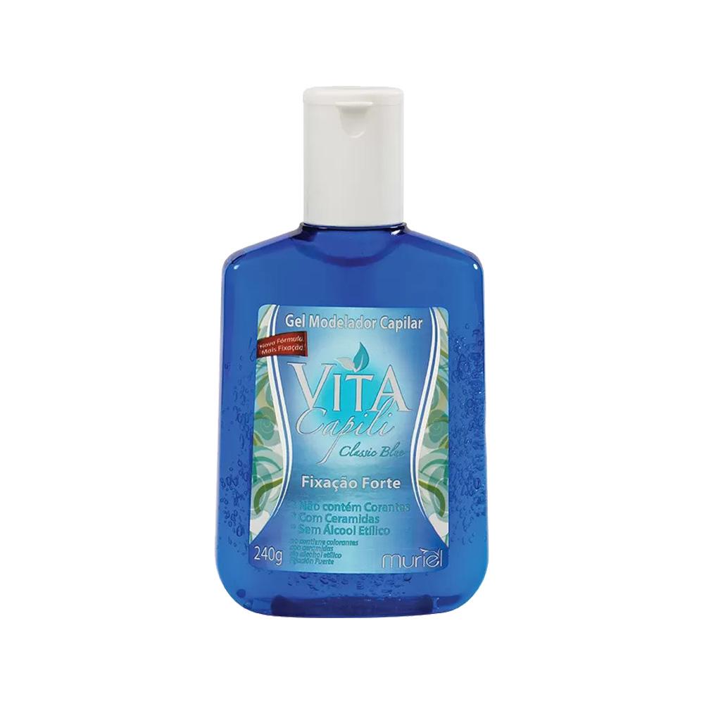 gel fixador muriel vertical classic blue 240g (azul)