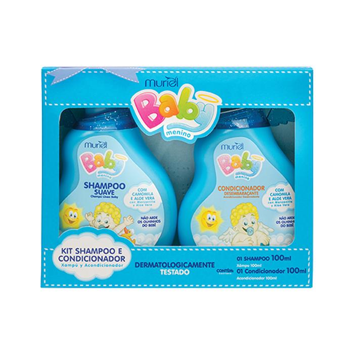 kit muriel baby shampoo 100ml + condicionador 100ml (menino)
