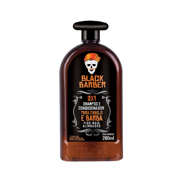 shampoo 2x1 muriel black barber 280ml un