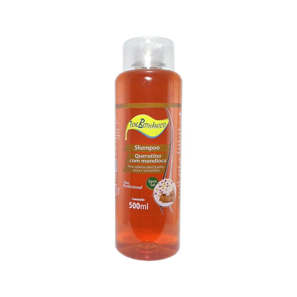 shampoo queratina com mandioca tok bothânico sem sal - 500ml