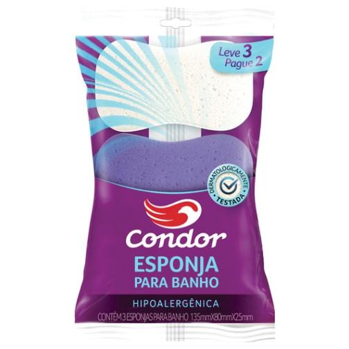 esponja condor banho espuma básica leve 3, pague 2 ref8301