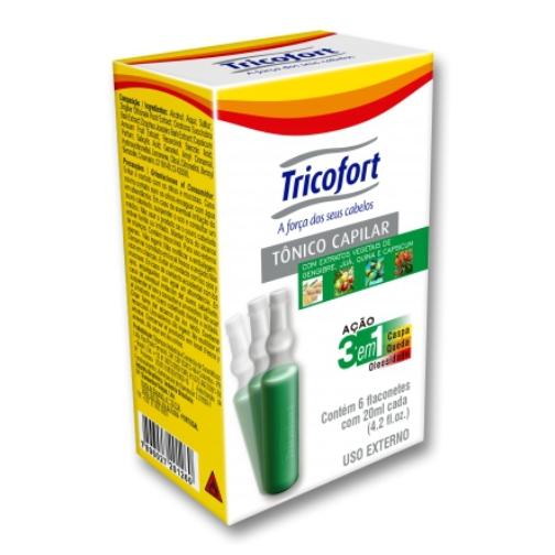 tônico capilar tricofort com 6 ampolas de 20ml