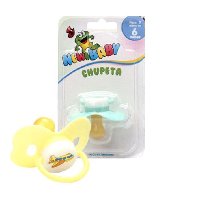 chupeta new baby latex n2 borboleta azul ref106