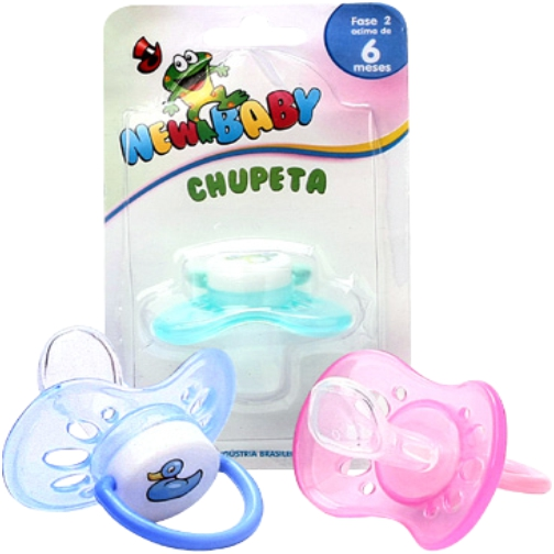 chupeta new baby silicone n2 ventilada rosa ref127d
