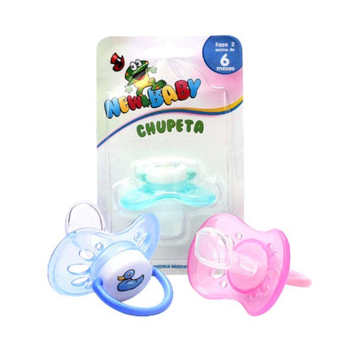chupeta new baby silicone n2 ventilada ortodôntica azul ref127d, as