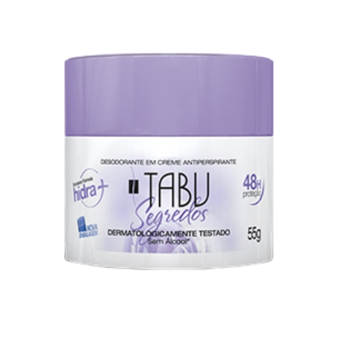creme desodorante antitranspirante tabu segredos - 55g