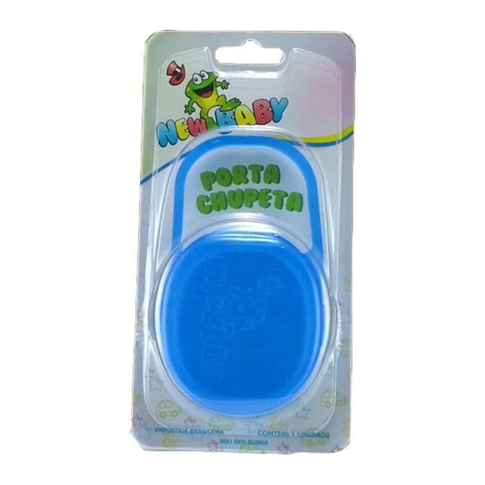 porta chupeta new baby azul ref 157 un blister