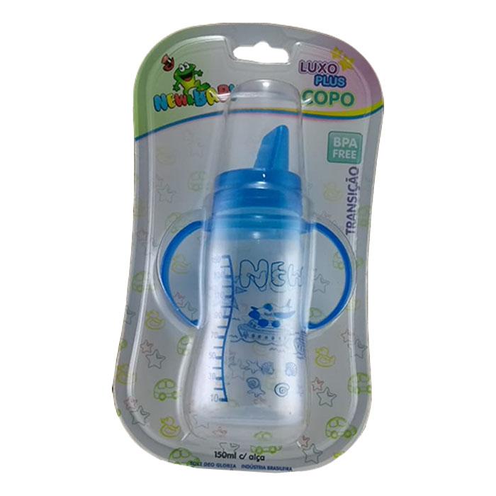 copo new baby plus luxo 150ml azul ref 606 un blister
