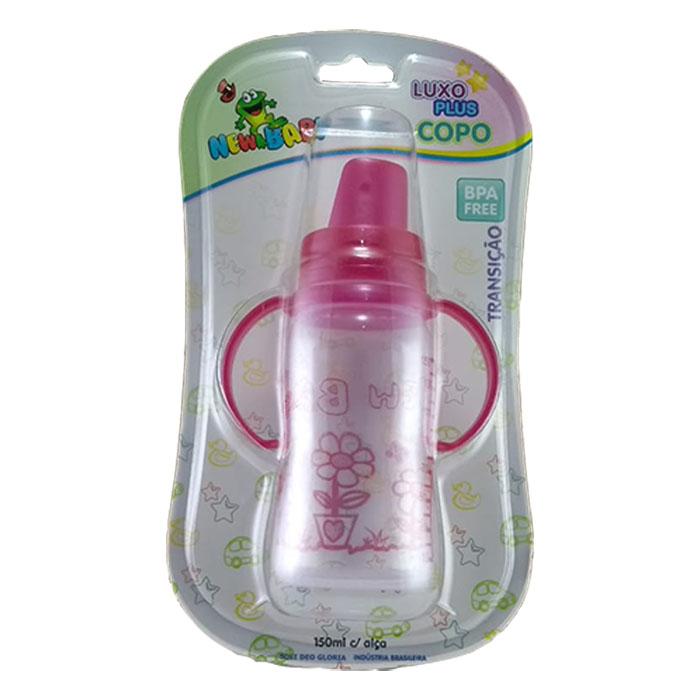 copo new baby plus luxo 150ml rosa ref 606 1un blister