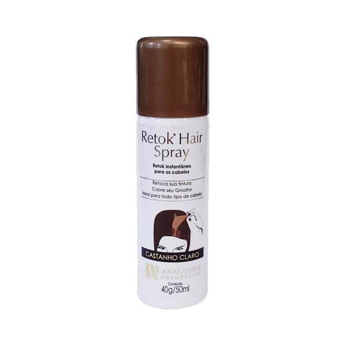retok hair spray p calvicie e cabelos brancos anaconda castanho claro