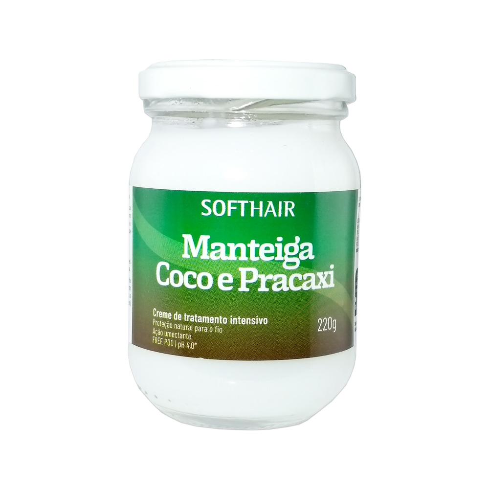 manteiga softhair coco com pracaxi 220g un