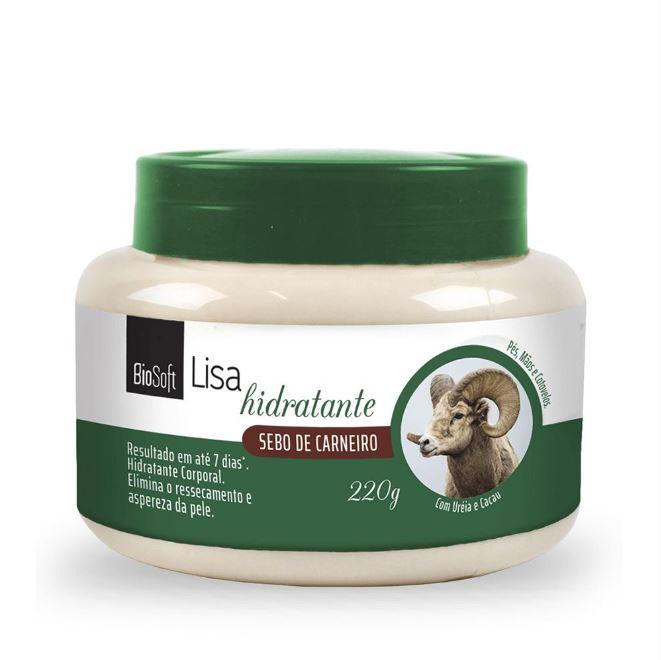 creme hidratante biosoft sebo de carneiro 220g
