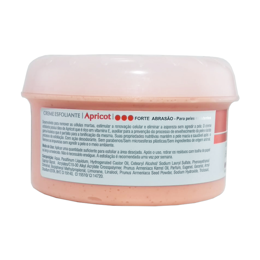 creme esfoliante dágua natural apricot forte 300g