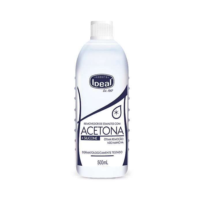 acetona ideal com silicone 500ml