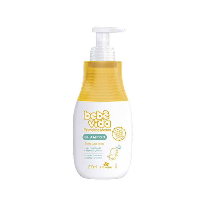 bebe vida davene primeiros meses shampoo 200ml