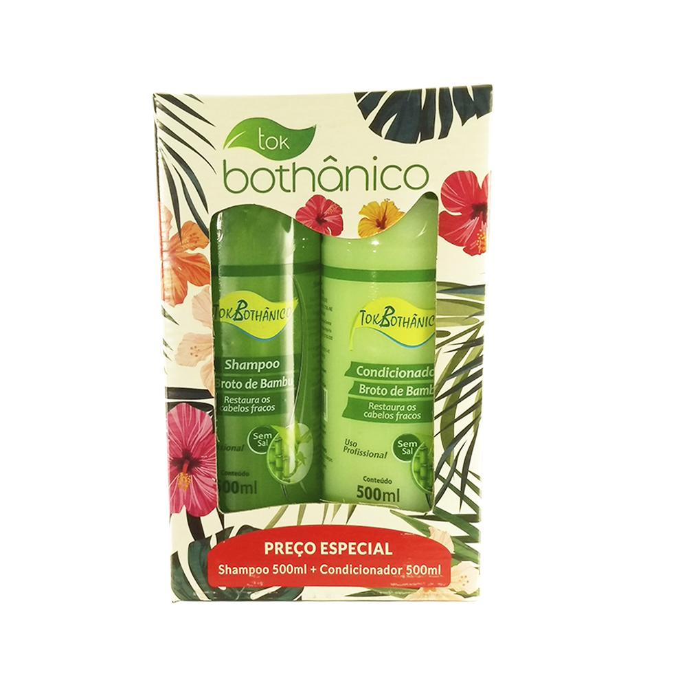 kit shampoo + condicionador broto de bambu tok bothânico sem sal - 500ml