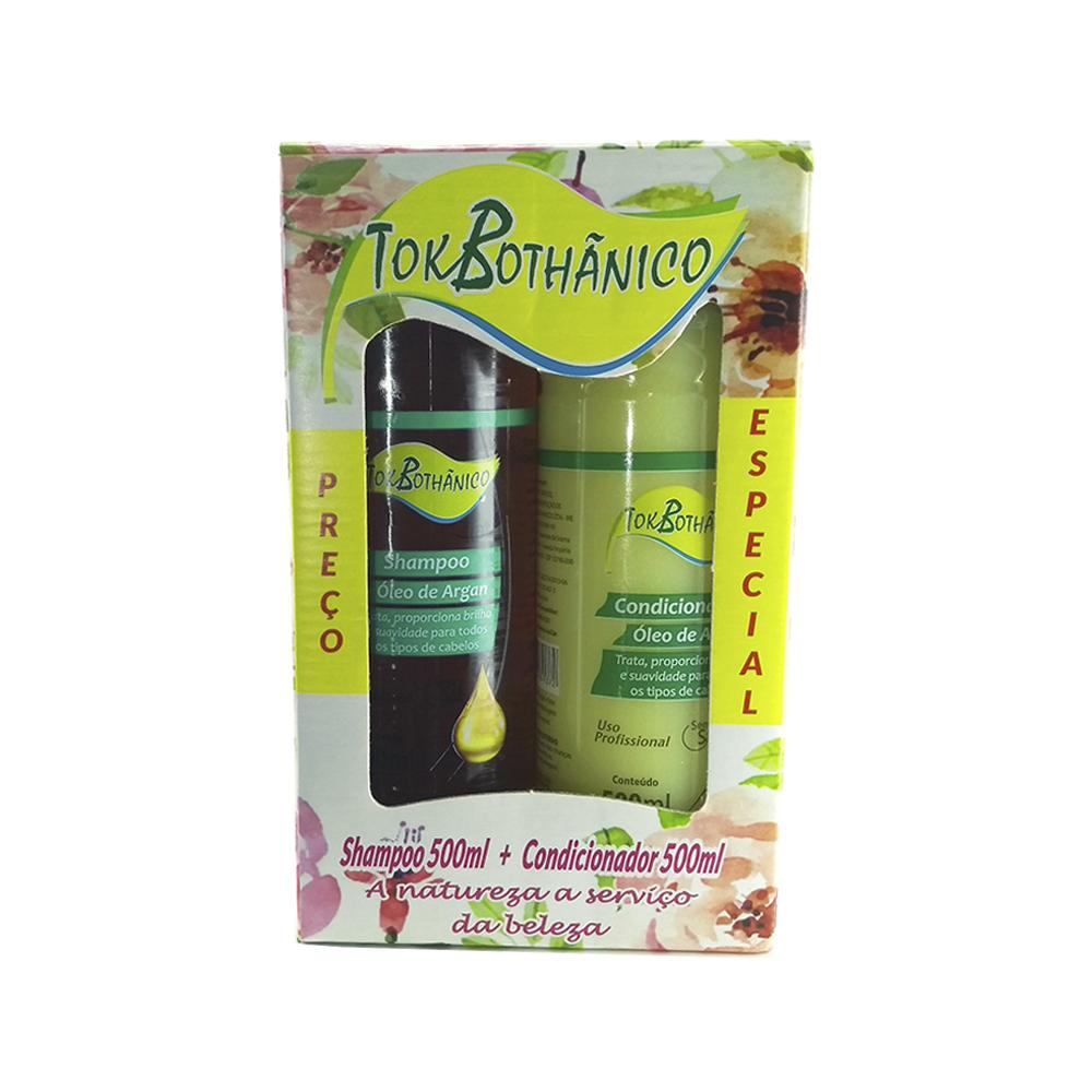 kit shampoo + condicionador óleo de argan tok bothânico sem sal - 500ml