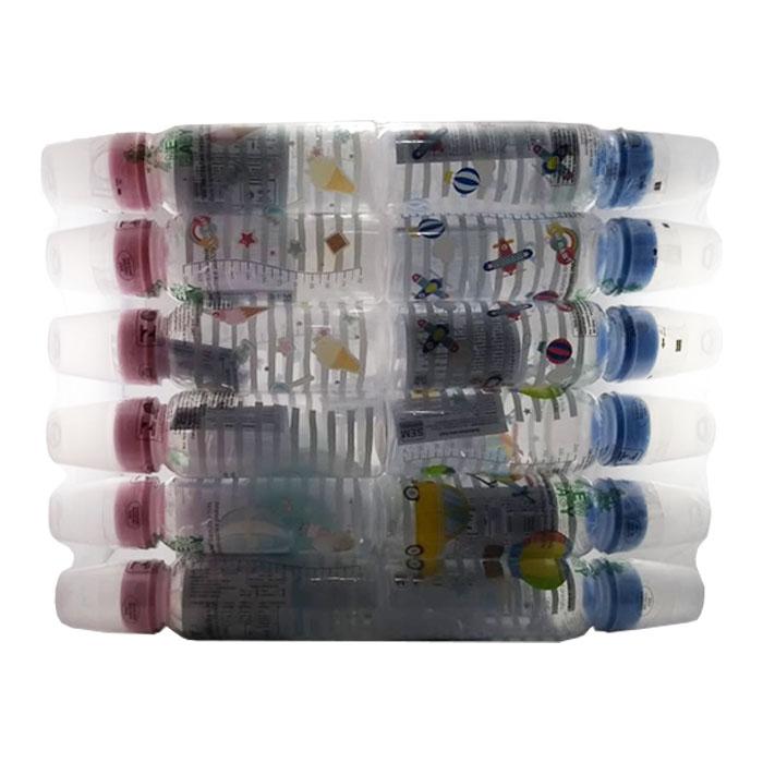 mamadeira newbaby luxo com bico silicone 240ml 12un ref026