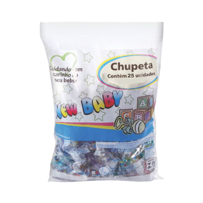 chupeta new baby silicone assimetrica ref013-p 25un sortido pacote