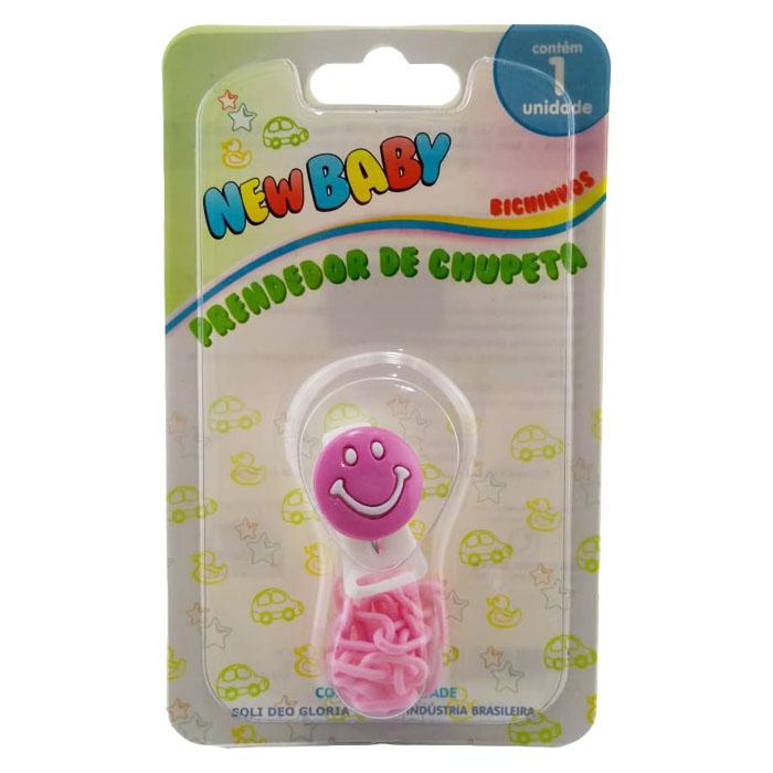prendedor de chupeta new baby bichinhos rosa ref128a