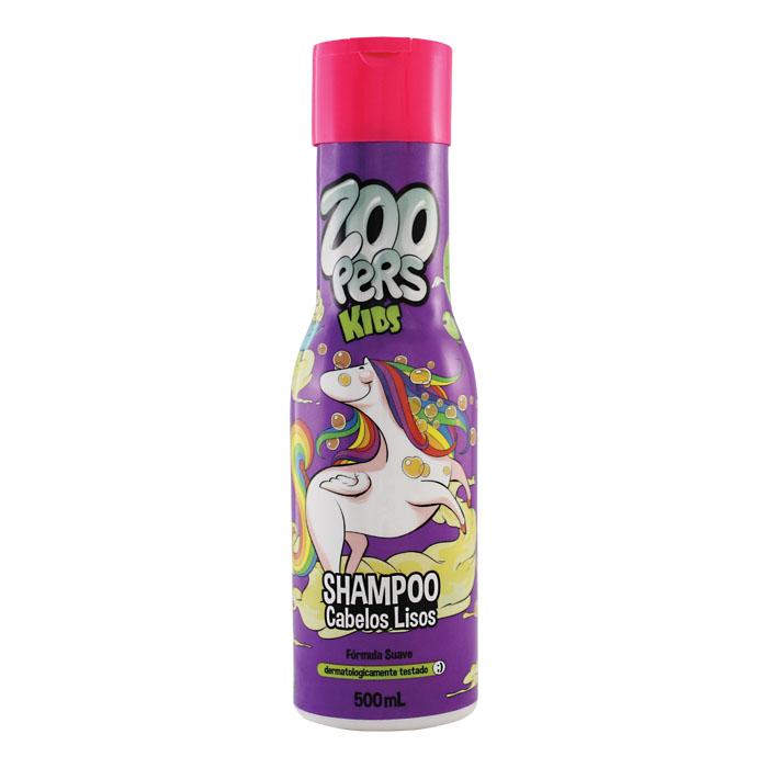 shampoo kids cabelos lisos zoopers - 500ml
